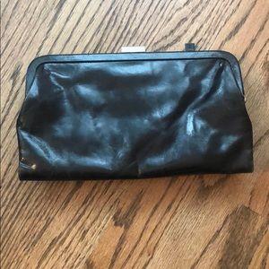 Latico Clutch in Black Leather